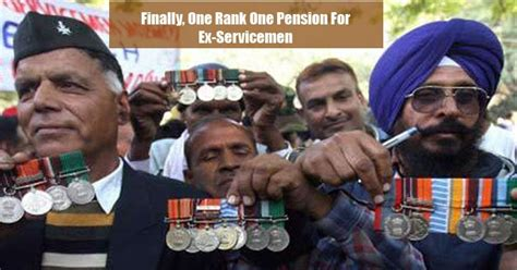 government announces one rank one pension for ex modi government just announced the one rank one pension scheme