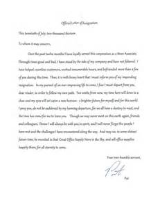 Best Resignation Letter Of All Time Best Resignation Letter Of All Time Resume Layout 2017