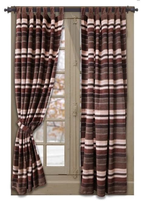 southwestern drapes curtains carstens inc old west stripe tab drape set view in