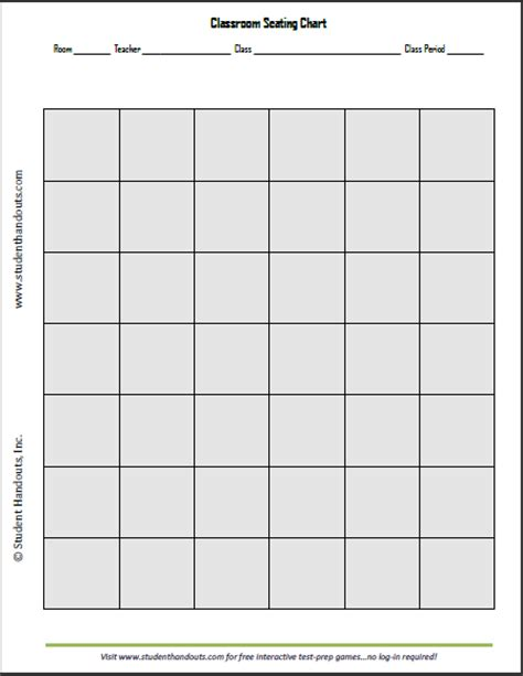 seating chart template classroom seating chart template