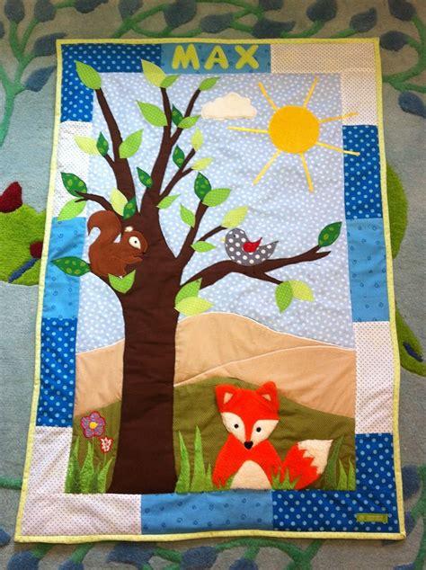 patchwork decke baby patchwork decke quilt mit waldtieren n 228 hen