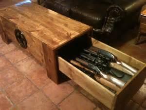 Hidden Gun Table by Gallery For Gt Hidden Gun Cabinet Coffee Table