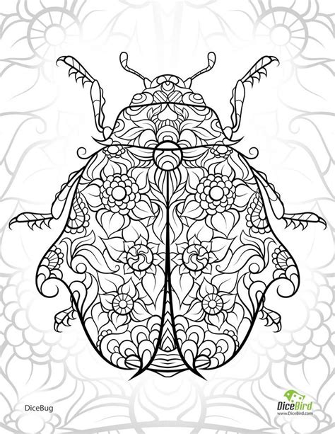 zendoodle coloring pages ladybug abstract doodle zentangle zendoodle paisley