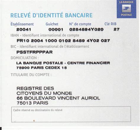l bank adresse citoyens du monde coment payer