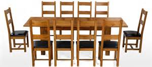 Dining Table And 10 Chairs Barham Oak 180 250 Cm Extending Dining Table And 10 Chairs Quercus Living