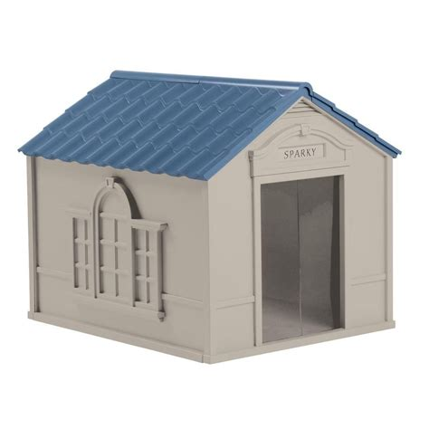 home depot dog houses suncast large deluxe dog house the home depot canada