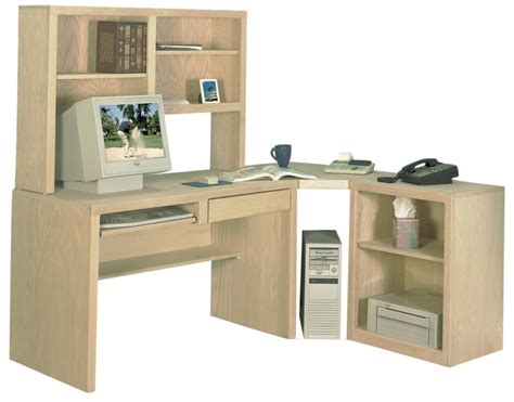 Desk Corner Shelf Corner Desk With Hutch Printer Stand And Angled Corner Shelf In Maple Desks