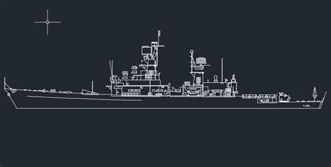 Floor Plan Drawing Symbols by War Ship Autocad Drawings 187 Cadsample Com