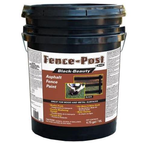 gardner 4 75 gal black asphalt fence paint 9005 ga the home depot