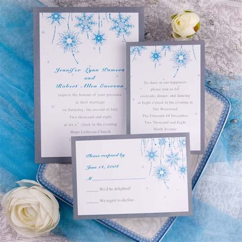 45 best images about winter wedding invitations on winter wedding ideas snowflakes