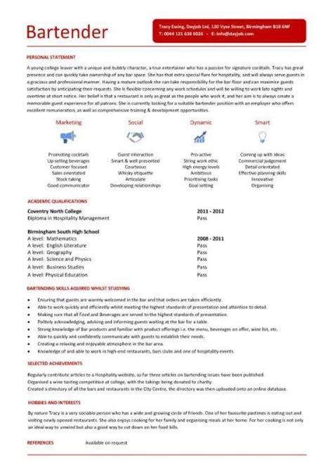 bartender schedule template bartender resume exle template resume builder