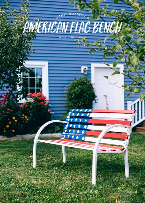 how to paint a bench diy how to paint an american flag bench decoration