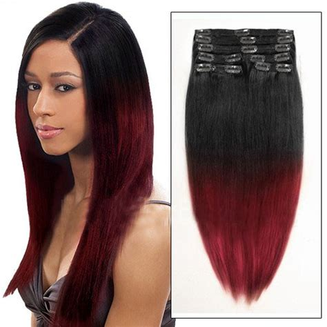 Inch Black Ombre Hair Extensions