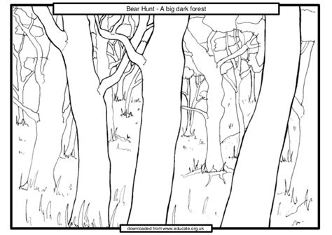 coloring pages for going on a bear hunt we re going on a bear hunt dark forest