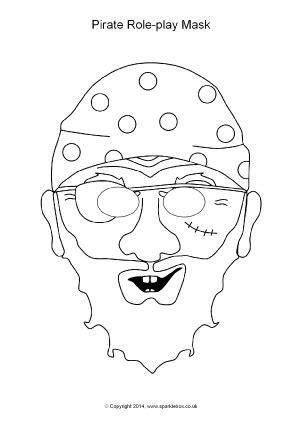 printable pirate mask pirates primary teaching resources printables sparklebox