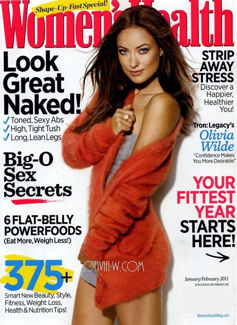 women magazine olivia wilde 2011 women s health magazine january