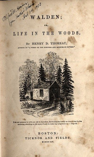 book walden or in the woods henry david thoreau woods and the fruit on