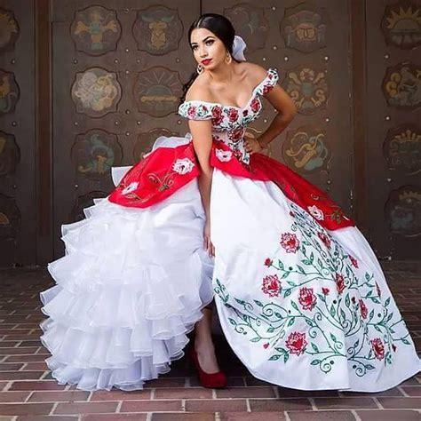 imagenes de vestidos de novia rancheros compra vestidos del quinceanera blanco rojo online al por