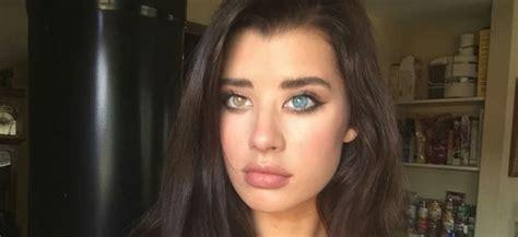 occhi di due colori diversi mcdaniel la modella con gli occhi di colori diversi