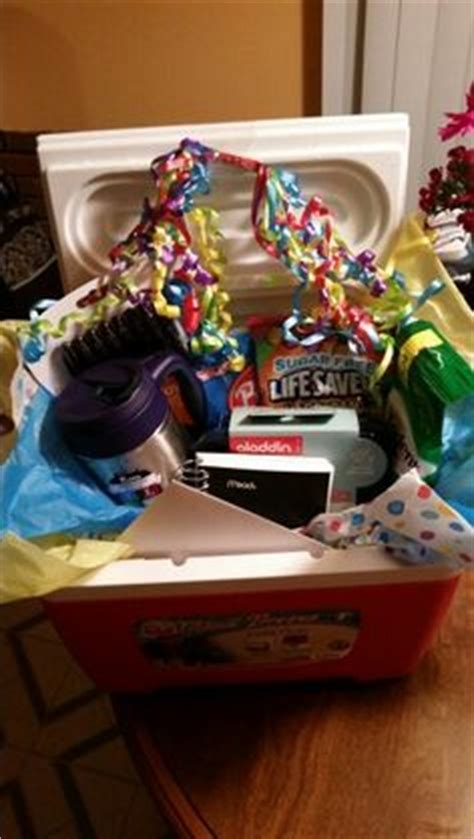 Ee  Gift Ee   Basket For A Truck Driver Or Boyfriend All The