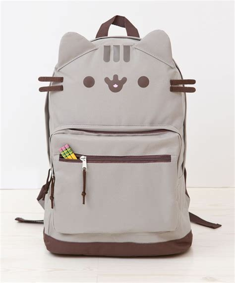 cat backpack way adorable pusheen the cat backpack with ears pu 17 ebay