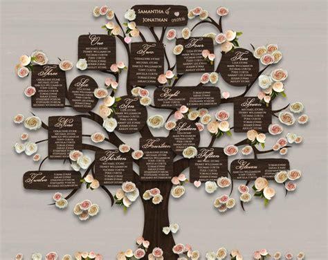 wedding table plan printable tree seating plan 18x24 diy