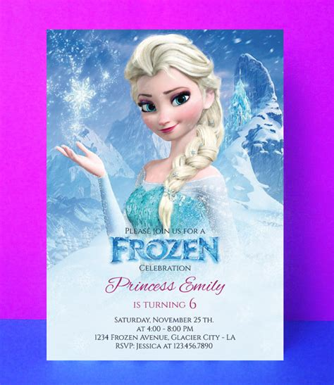 frozen printable editable invitations frozen invitation disney frozen birthday by paperpartydesign