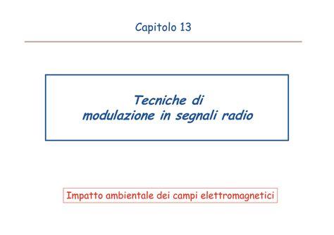 ci elettromagnetici dispense misura di ci elettromagnetici modulazione di segnali