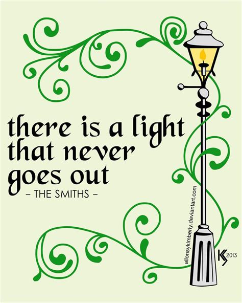 There Is A Light That Never Goes Out Meaning by There Is A Light That Never Goes Out By Allonsykimberly On