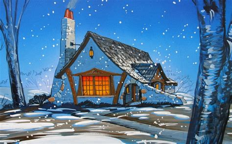 winter cottage winter cottage wallpaper and background 1280x800 id 334510