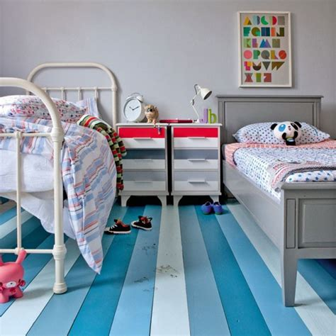 Bedroom Paint Ideas Stripes Boys Bedroom With Striped Floorboards Boys Bedroom