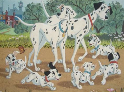 Dalmantion Family 101 dalmatians disney family outing le giclee signed