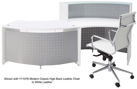white curved reception desk white curved wave glass top ada reception desk