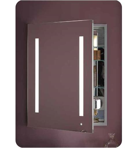 recessed built in bathroom mirror cabinet robern ac2430d4p1l aio 24 quot wide single door medicine