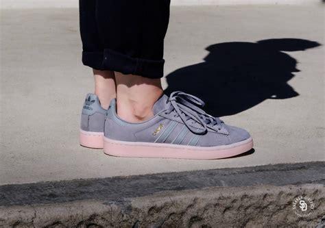 adidas campus  grey threeicey pink