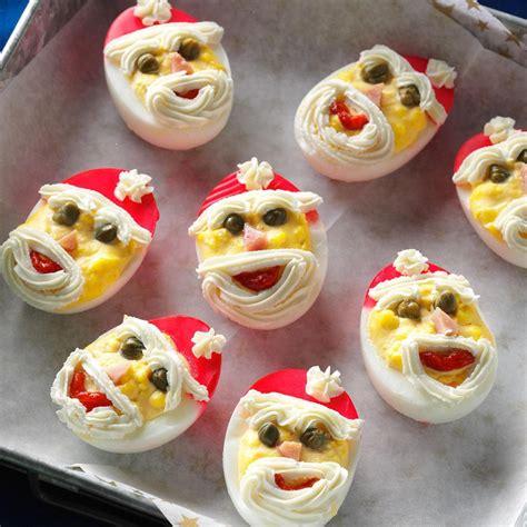 decorating deviled eggs for xmas santa deviled eggs recipe and santa
