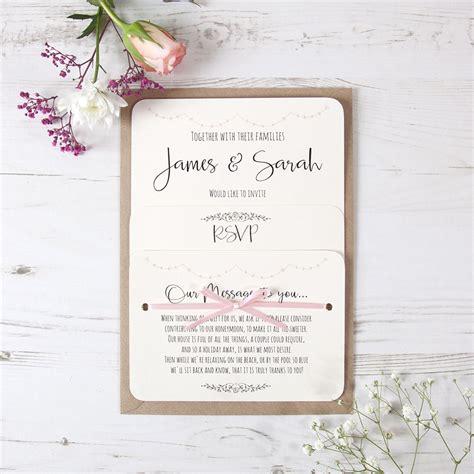 pale pink wedding invitations pale pink bunting wedding invitation handmade by vintage prints