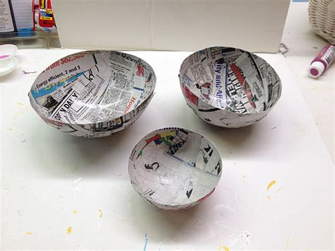 How To Make Paper Mache Step By Step - paper mache bowl craft 183 kix cereal