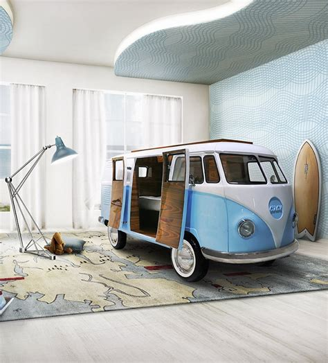 bus bed limited edition retro vw bus bed for kids in blue or pink