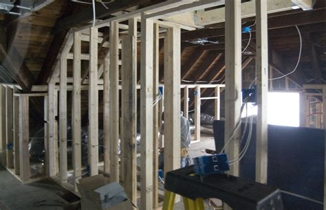 attic framing continues with ins jenkintown tudor