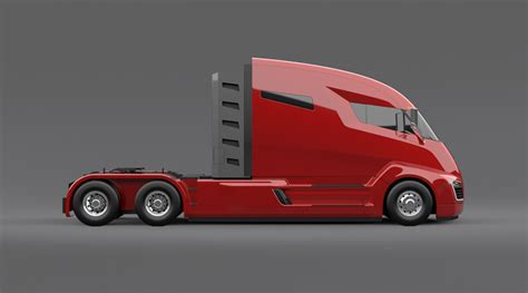 electric company truck nikola motor presents electric truck concept with 1 200