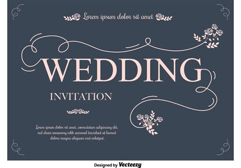 wedding invitation card vector wedding invitation cards free templates