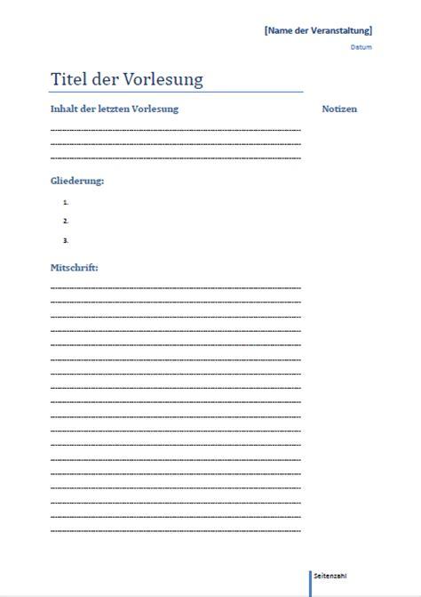 Vorlage Word Notizen Yolostudentin Vorlage F 252 R Mitschriften