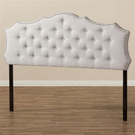 fabric full size headboard baxton studio aurora modern and contemporary greyish beige