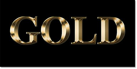 photoshop gold styles create a gold text effect in photoshop cc and cs6