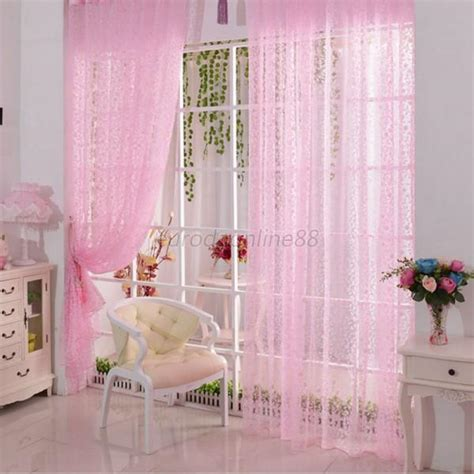 Multi Color Curtains Multi Color Assorted Sheer Curtains Window Room Divider Panel Drapes Valance New Ebay