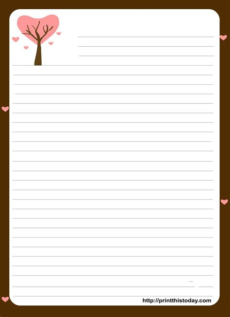 love letter stationery template google search