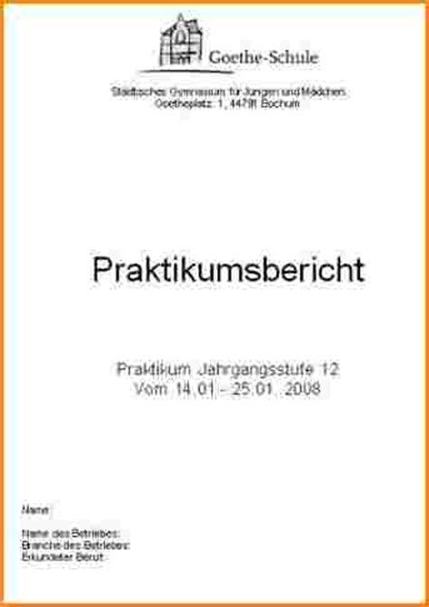 Praktikumsbericht Design Vorlage Praktikum Deckblatt Muster Reimbursement Format