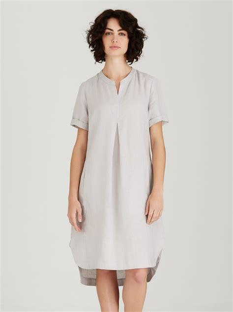 Amanda Dress Grey 1 amanda laird cherry alana linen shift dress pale grey a436367 spree co za