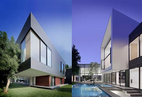 modern house spectacular modern house with courtyard swimming pool